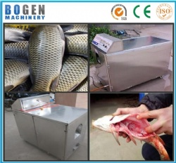 Fish descaler and cutting machine